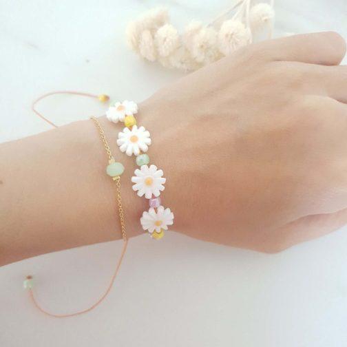 Bracelet marguerite nacre