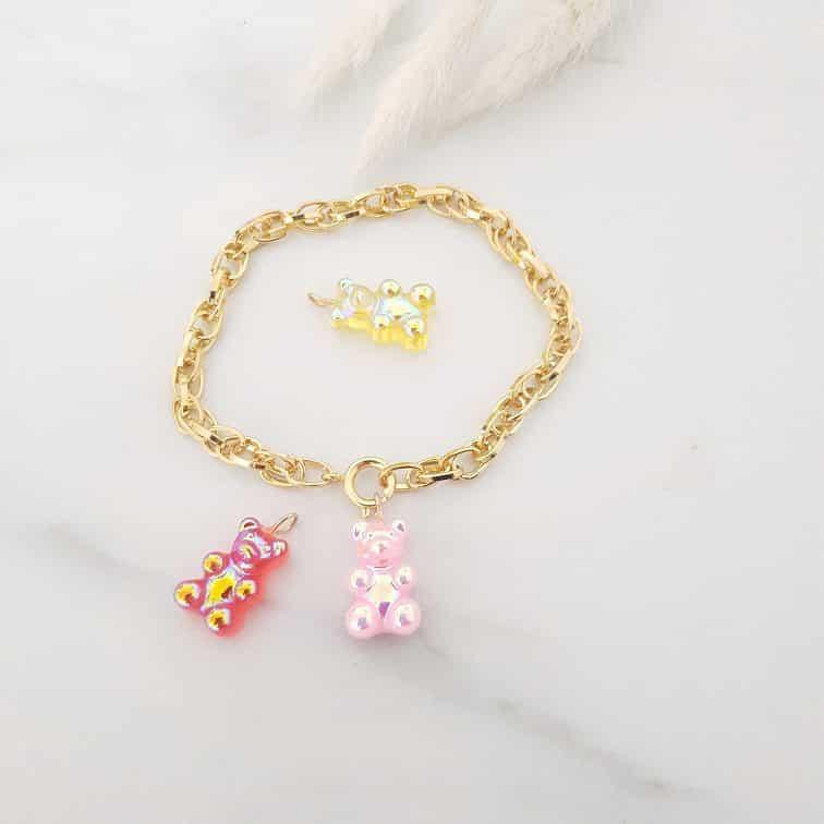 Bracelet oursons candy interchangeables