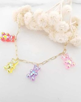 Bracelet mailles rectangles ours