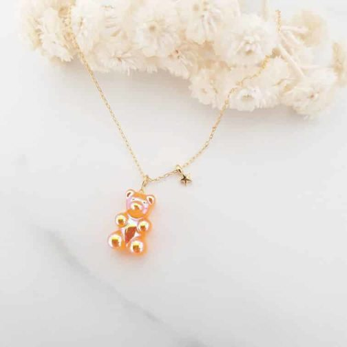 Collier ours candy étoile