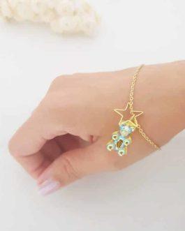 Bracelet ourson vert étoile