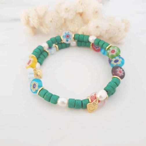 Bracelet jonc perles heishis