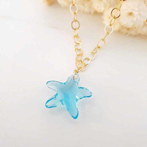 Collier cristal étoile