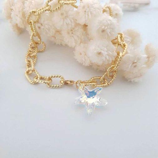 Bracelet mailles étoile