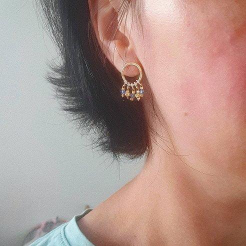 Boucles d'oreilles mini perles