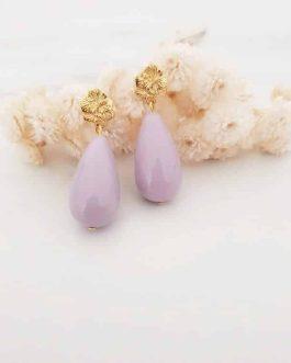 Boucles d'oreilles violette lilas