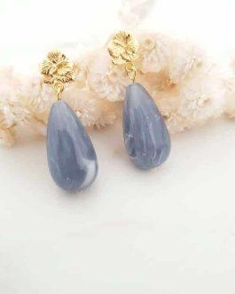 Boucles d'oreilles violette bleu