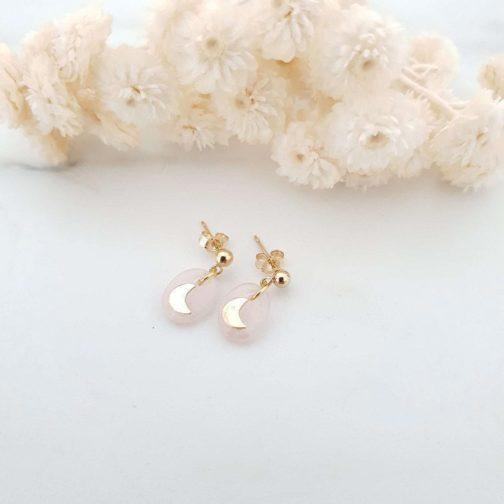 Boucles d'oreilles pierre quartz