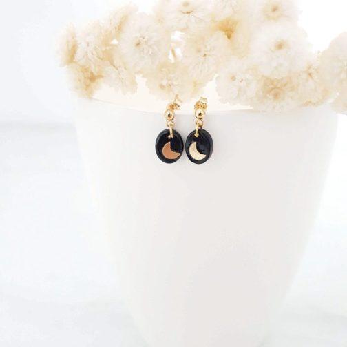 Boucles d'oreilles pierre onyx