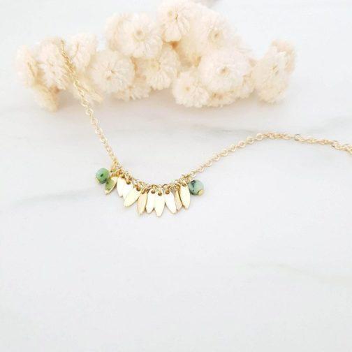 Bracelet pendentif navette RubisZoïsite