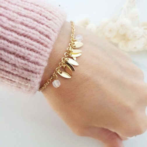 Bracelet pendentif navette PierredeLune