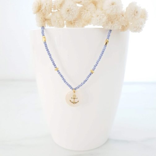 Collier ancre marine