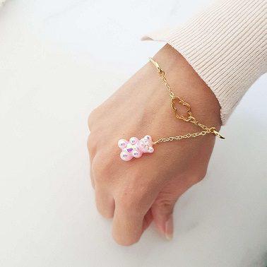 Bracelet jonc ourson